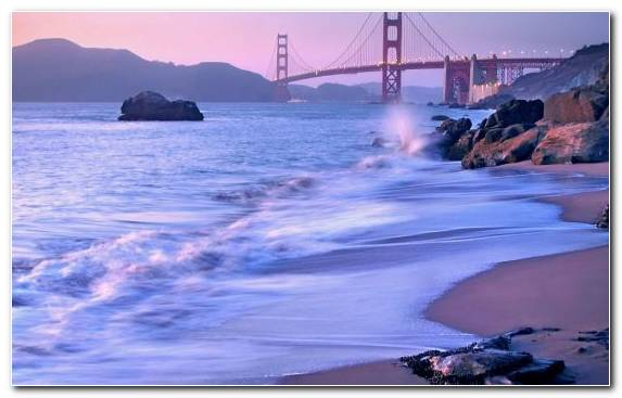 Image Bridge Water Resources Golden Gate Bridge Ocean Wind Wave