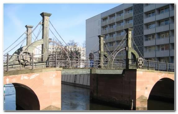 Image Bridge Waterway Canal Water Suspension Bridge