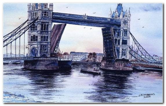 Image Bridge Waterway Suspension Bridge Beam Bridge Creative Arts