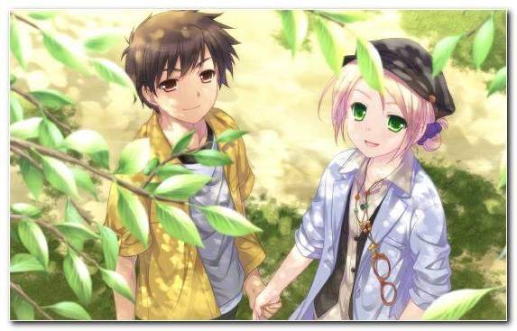 Image brown hair mangaka couple