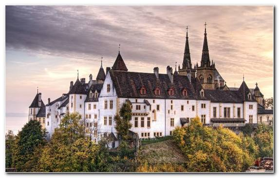 Image Building Neuschwanstein Castle Stately Home Facade Medieval Architecture