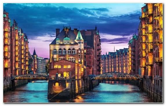 Image building waterway city metropolis reflection