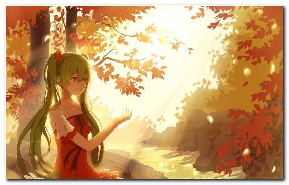Image Bunches Yellow Girl Illustration Vocaloid
