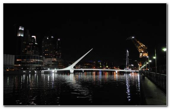 Image Cable Stayed Bridge Architecture Cityscape Night Reflection