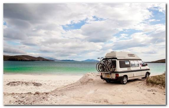 Image Camping Van Vacation Cloud Sand