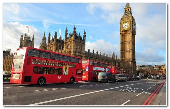 Image Capital City Big Ben Street City Bus