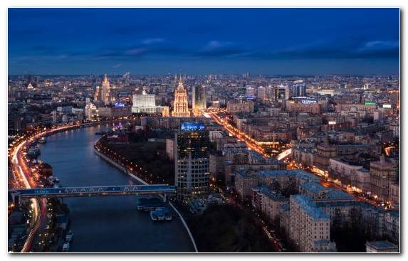 Image Capital City City Moskva River Waterway Horizon