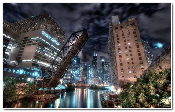 Image Capital City Cityscape Skyscraper River Chicago River