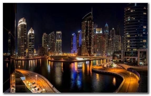 Image Capital City Dubai Hotel Reflection Cityscape