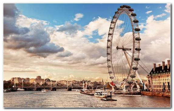 Image Capital City London Eye River Thames Skyline Cityscape