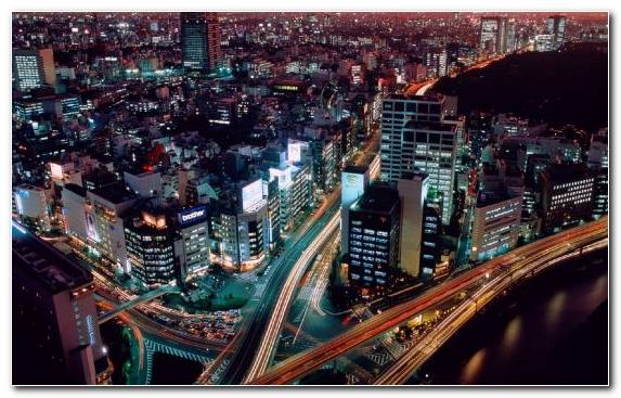 Image Capital City Metropolis Night Landmark Birds Eye View