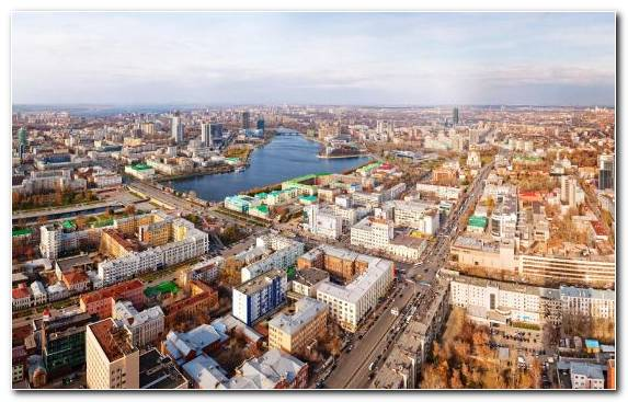Image capital city moscow cityscape building birds eye view