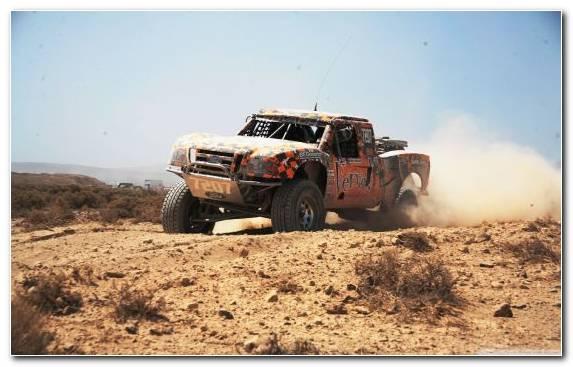 Image Car Desert Racing Desert Thames Trader Pickup Truck