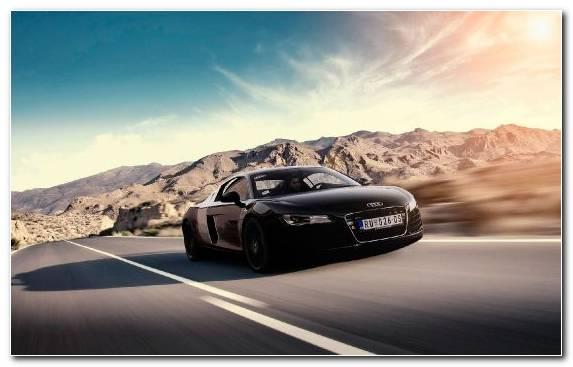Image Car Sportscar Sports Car Audi R8 Le Mans Concept V10 Engine