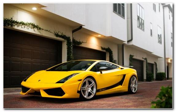 Image Car Yellow Lamborghini Gallardo Lamborghini Supercar