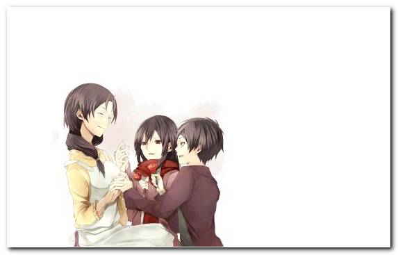 Image cartoon friendship Mikasa Ackerman girl attack on titan