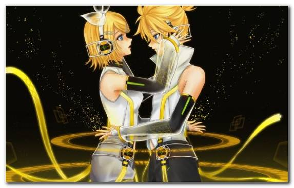 Image Cartoon Mangaka Kagamine Rinlen Yellow Illustration