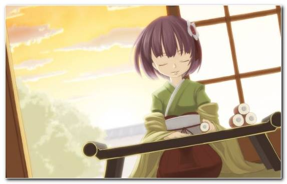 Image Cartoon Sitting Mangaka Girl