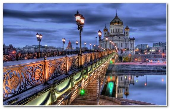 Image Cathedral Capital City Landmark Night Volga River