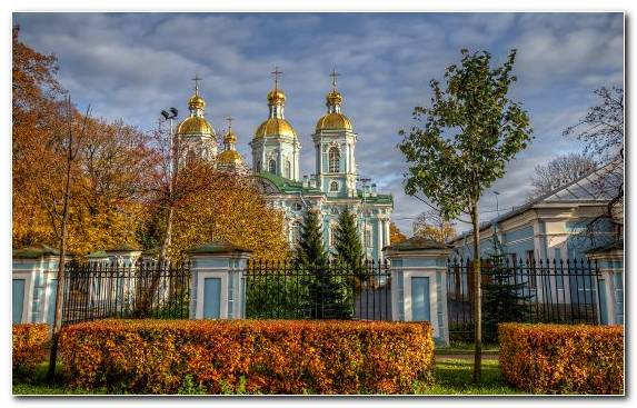 Image Cathedral Home Sky Saint Petersburg Tourist Attraction