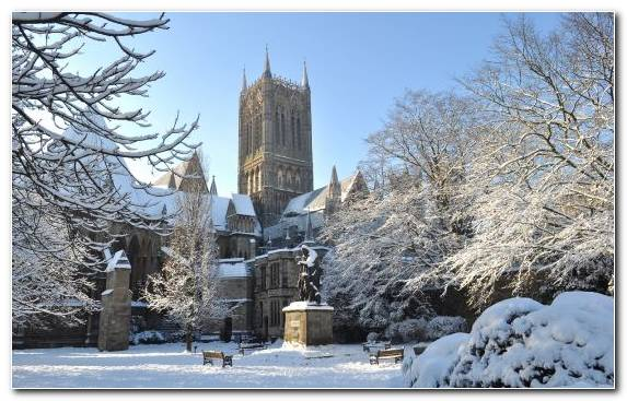 Image Cathedral Sky Church Snow Frost