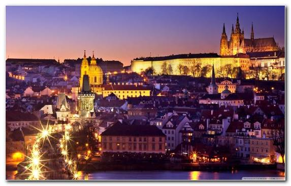 Image Charles Bridge Urban Area Prague Metropolis City