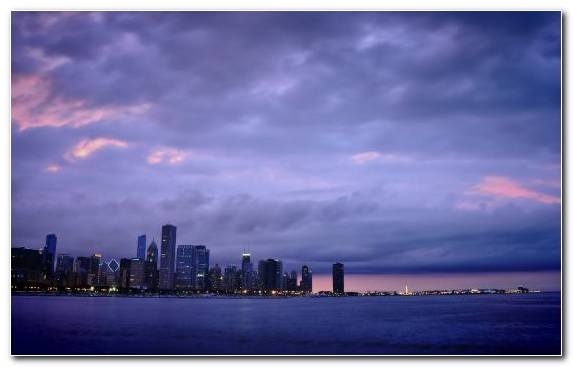 Image Chicago Twilight Cloud Skyscraper Horizon