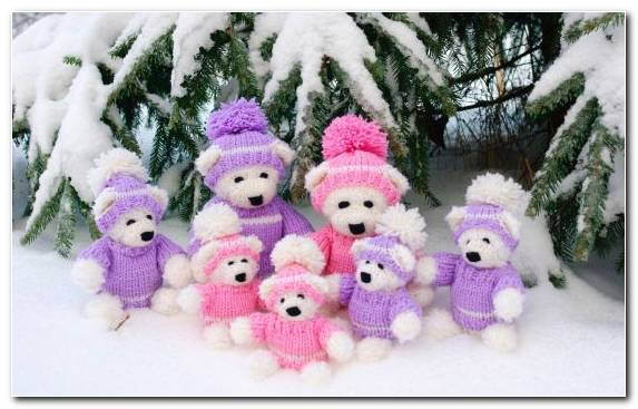 Image Christmas Teddy Bear Pinkie Stuffed Toy Textile