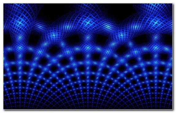 Image Circle Neon Lighting Electric Blue Mesh Blue
