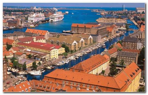 Image City Copenhagen Birds Eye View Historic Site Town