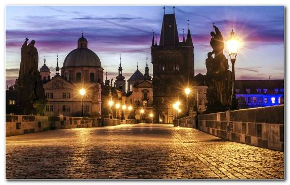 Image City Charles Bridge Tourist Attraction Sky Town