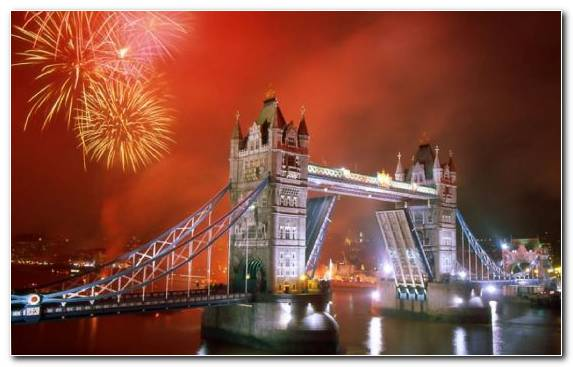Image City Cityscape Metropolis Fireworks London Bridge
