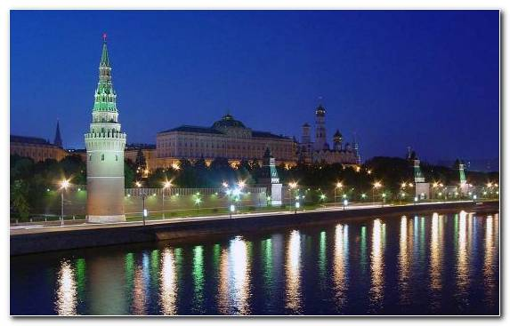 Image City Cityscape Moscow Kremlin Reflection Town