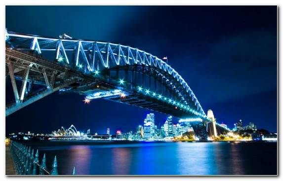 Image City Cityscape Night Landmark Sydney Opera House