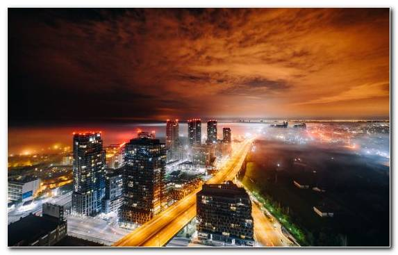Image City Evening Atmosphere Urban Area Cityscape