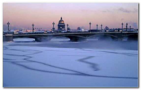 Image City Freezing Skyline London Neva River