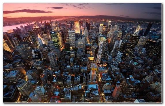 Image City Horizon Capital City New York City Birds Eye View