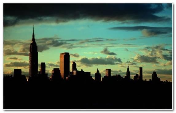 Image City Horizon Skyline Metropolis Empire State Building