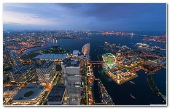 Image City Metropolis Capital City Yokohama Sky