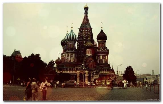 Image City Red Square Moscow Kremlin Capital City Saint Basils Cathedral