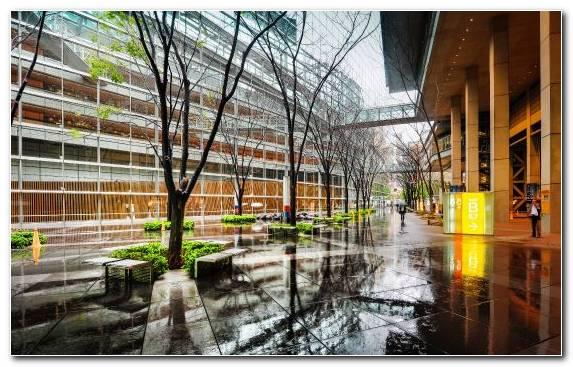 Image City Reflection Japan Mixed Use Tree