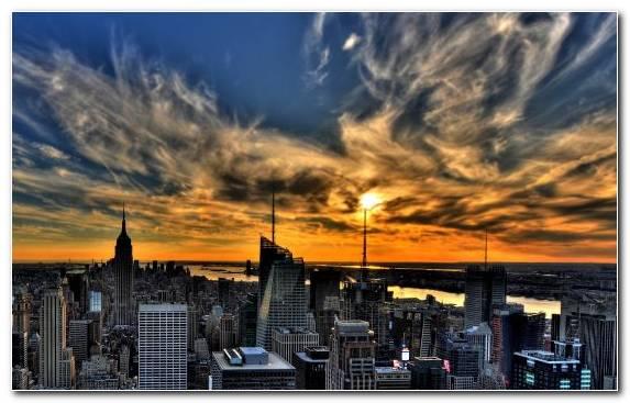 Image City Skyline Sunset Cloud Capital City