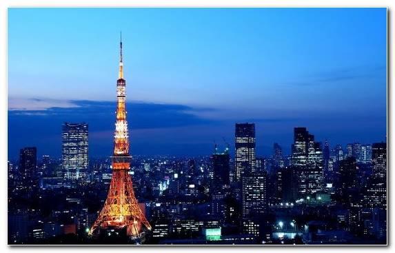 Image City Tokyo Tower Light Metropolitan Area Skyscraper