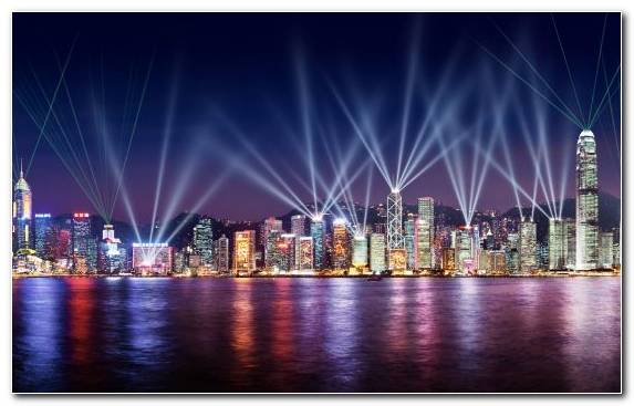 Image City Urban Area A Symphony Of Lights Horizon Landmark