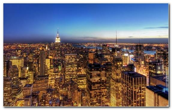 Image city urban area new york city horizon skyline