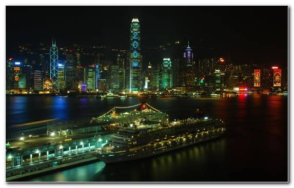 Image City Victoria Harbour Capital City Night Landmark