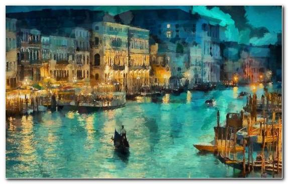 Image City Water Watercolor Painting Art Grand Canal