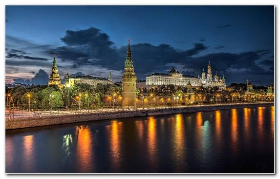 Image Cityscape Moskva River Saint Basils Cathedral City Landmark