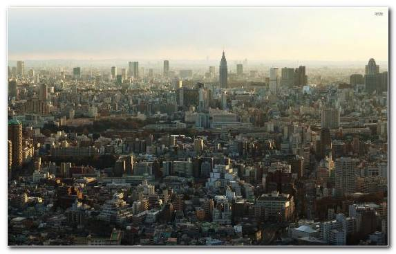 Image Cityscape Birds Eye View Capital City City Tokyo