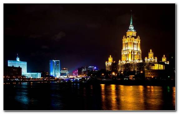 Image Cityscape Landmark Moskva River Winter Skyline
